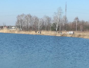 Naprawa grobli - Głosków 23.03.2019